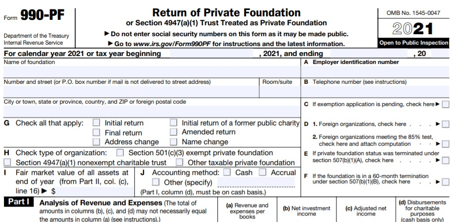 File your Form 990-PF Now